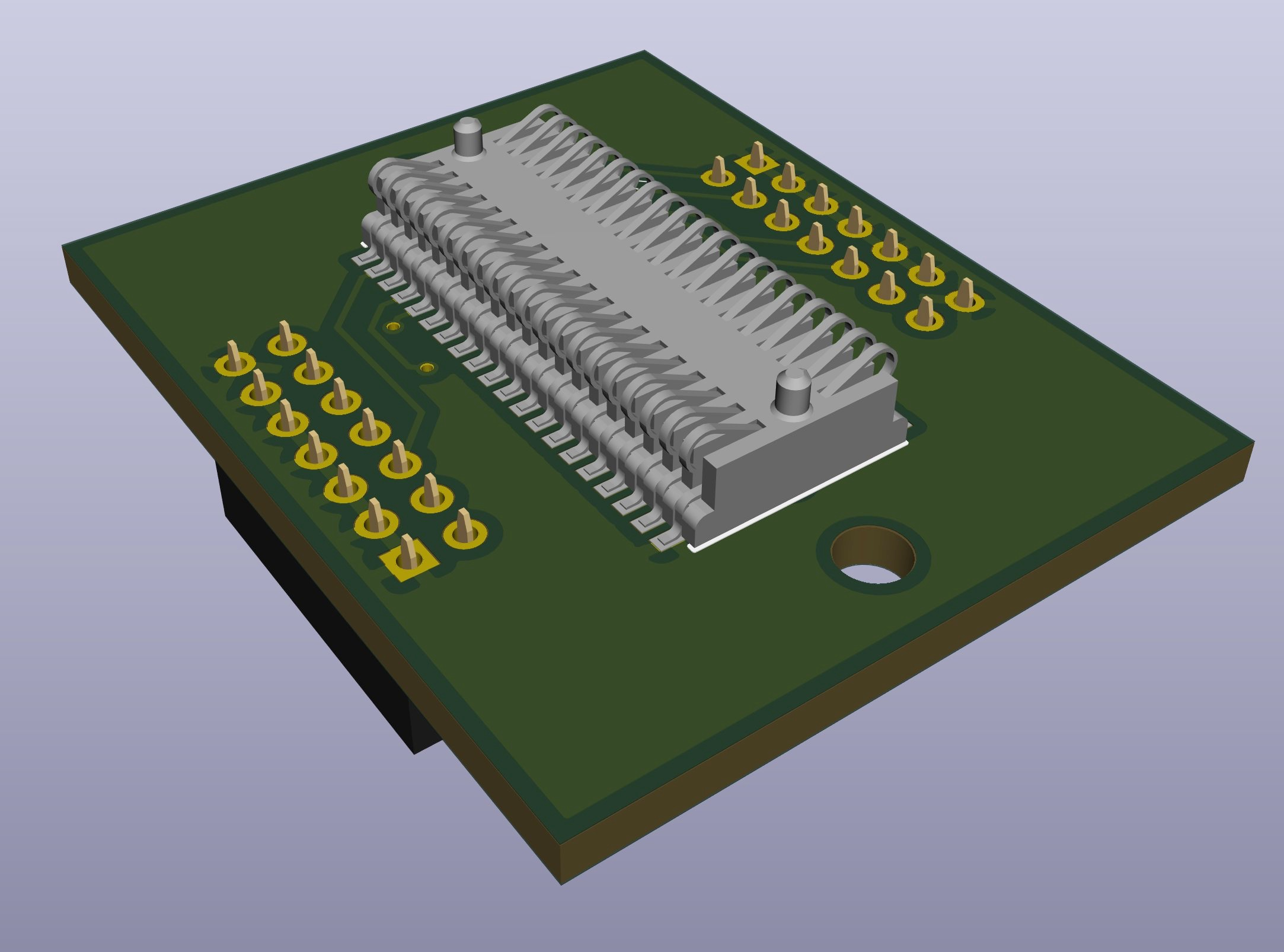 3D rendering of my JTAG adapter board