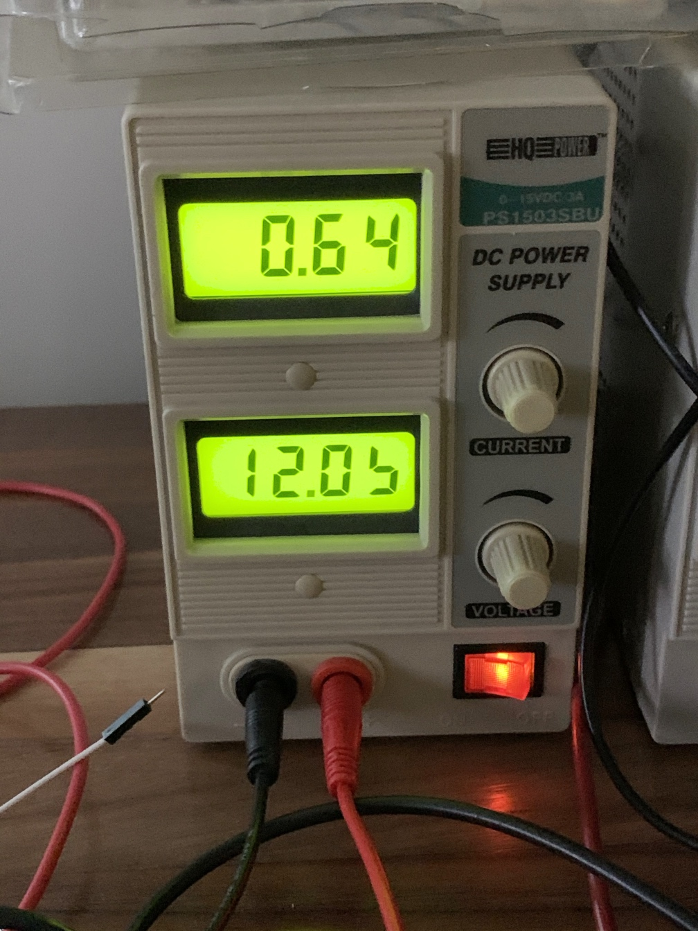 Bench supply showing surprisingly high idle power draw
